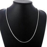 Mode Silber farbe schlange kette halskette für mann 16-24 zoll einfache charme schmuck kühlen geburtstag geschenk hohe qualität europa Heißer