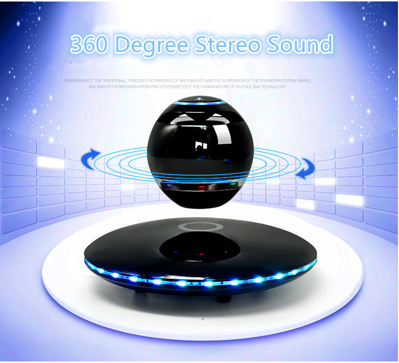 360 Rotating Bluetooth Wireless Speaker Stereo Subwoofer Sound Smart Levitation Multi-Function Music Surround Creative Handsfree