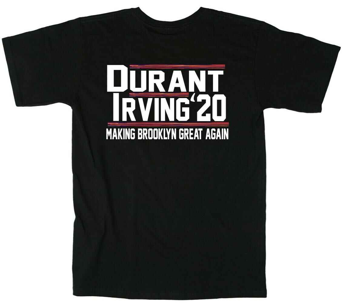 pretty nice cd561 ac49d Kevin KD Durant Kyrie KI Irving Brooklyn City Jersey 2020 T-Shirt