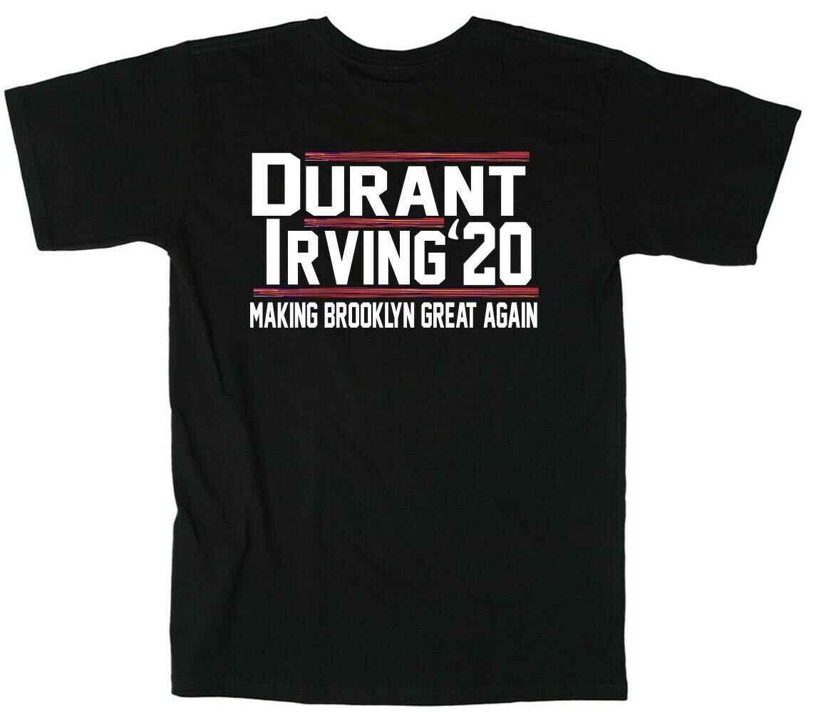 pretty nice 78c9d cbcb7 Kevin KD Durant Kyrie KI Irving Brooklyn City Jersey 2020 T-Shirt