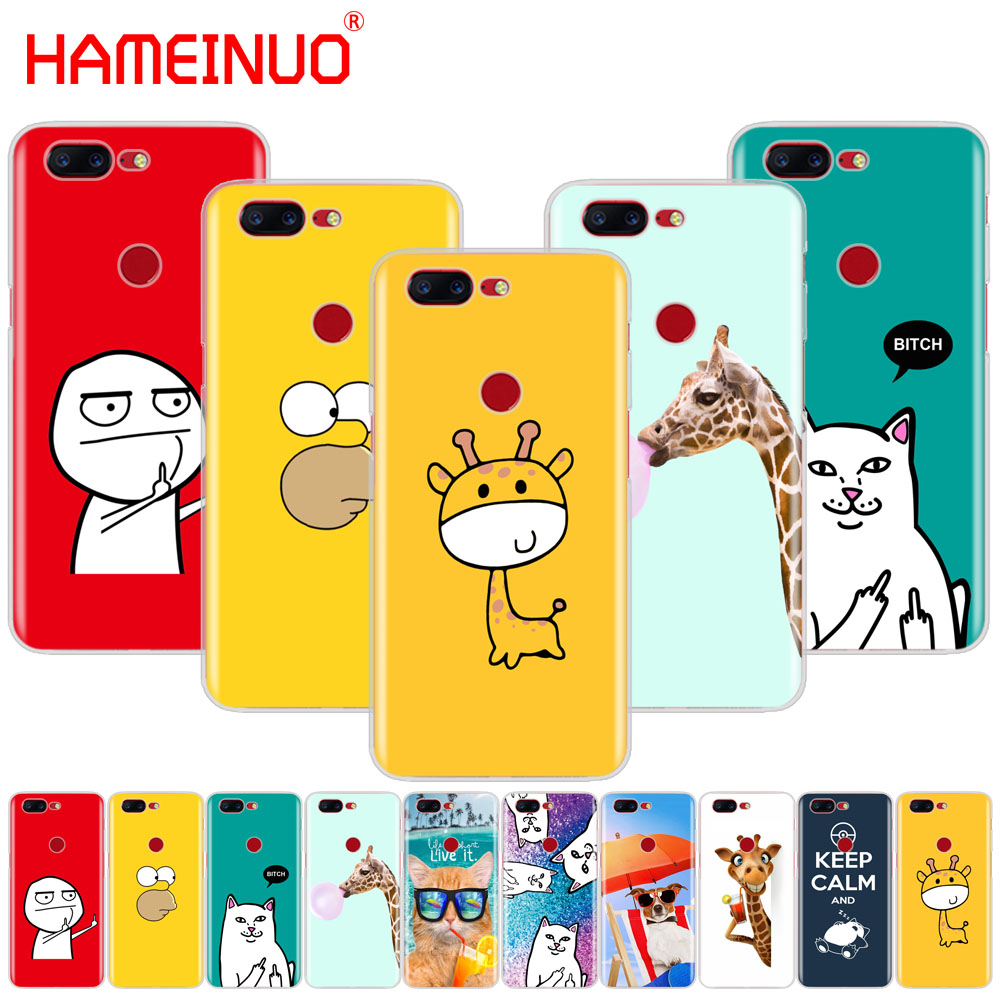 HAMEINUO funny cute fashion design <font><b>cover</b></font> <font><b>phone</b></font> case for Oneplus <font><b>one</b></font> <font><b>plus</b></font> <font><b>6</b></font> 5T 5 3 3t 2 X A3000 A5000 image