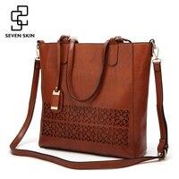 SEVEN SKIN Brand Women S Shoulder Bag Female Leather Handbag Women Bags Designer High Quality Hollow