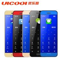 Original Ulcool V26 teléfono Móvil ultra-delgado cuerpo de metal bluetooth 2.0 marcador de doble SIM teléfono celular móvil de la tarjeta de crédito