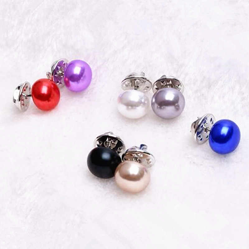 Vente chaude classique élégant femme bijoux corée Imitation perle collier Cardigan châle boucle bricolage écharpe broche broches