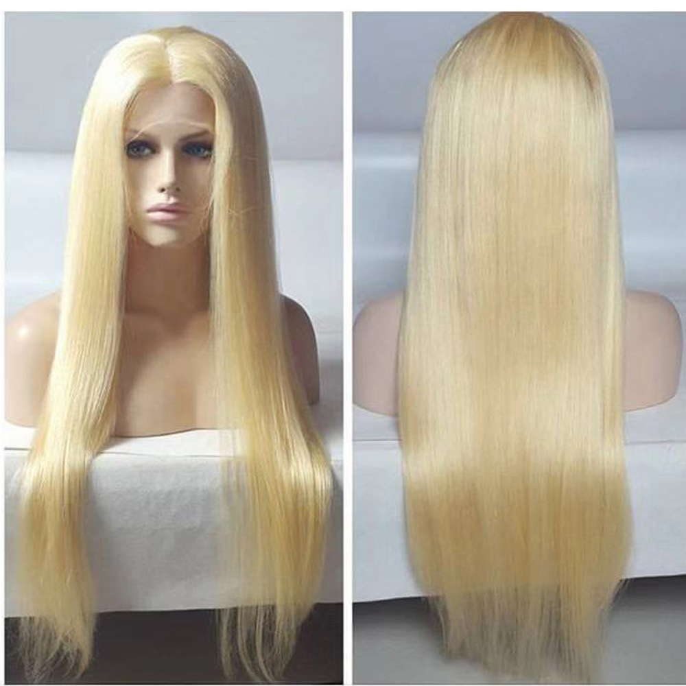 Bright Eversilky 613 Lace Front Wig Straight Hair Blonde Wig With Baby Hair Brazilian Remy Human Hair Wigs Pre Plucked Bleached Knots Easy And Simple To Handle