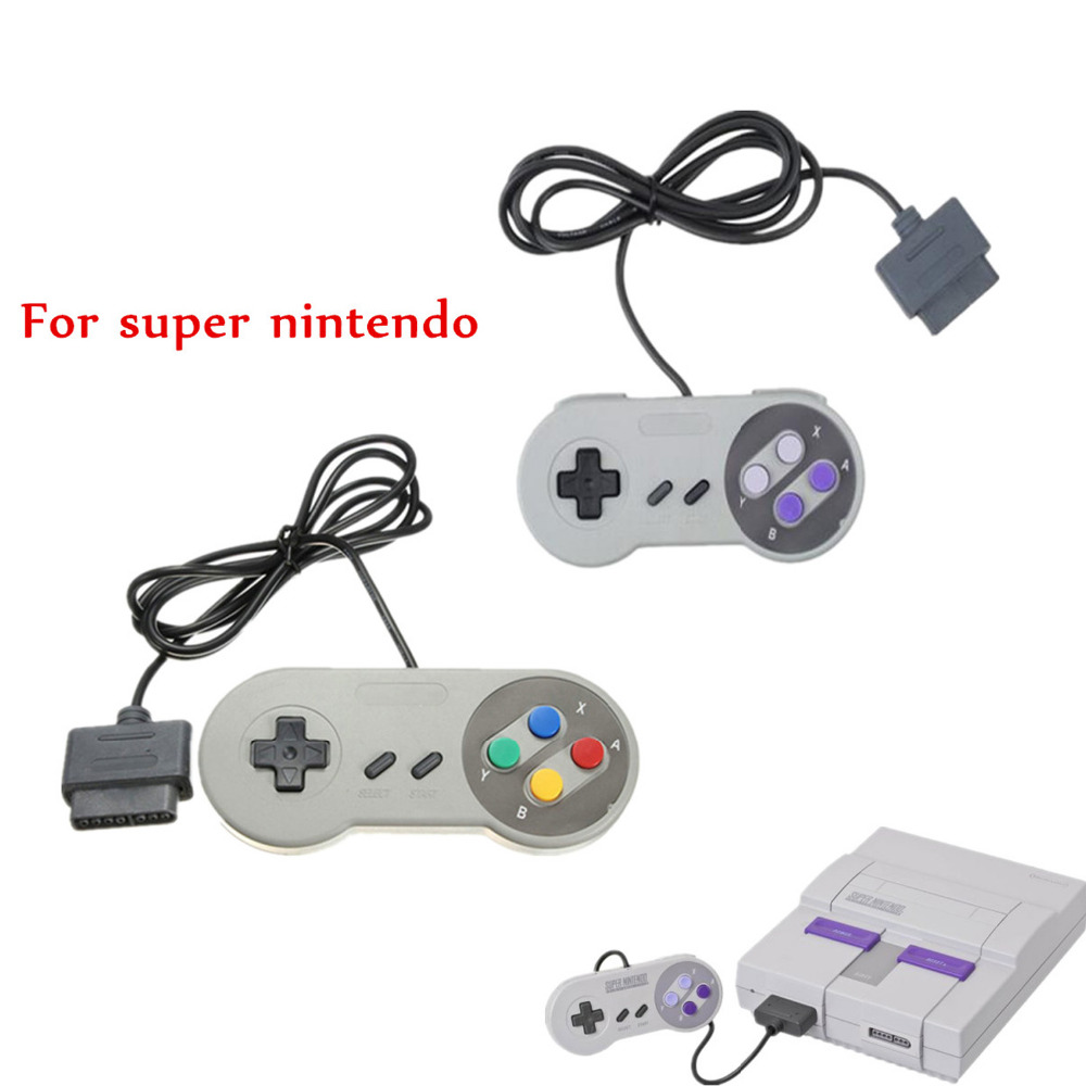 Wired gamdpad joystick game controller for super nintendo SFC/SNES console Classic portable video gaming gamepad