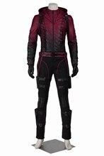 Superhero Green Arrow Season 3 Red Arrow Roy Harper Cosplay Custome Mens Jacket Pants Full Set Customized for Christmas Carnival