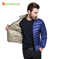 New Men Fall/Winter White Duck Down Jacket 4 Color Stand collar Jacket  Ultra Light Travel Pocketable Portable Warm Coat Outwear