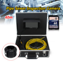 WF90-40m Sewer Waterproof Video Camera 12ocs LCD Screen Drain Pipe Inspection camera