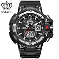 Smael marca sport reloj de los hombres de moda de cuarzo analógico led digital relojes hombres impermeables ocasionales reloj hombre reloj relogio masculino