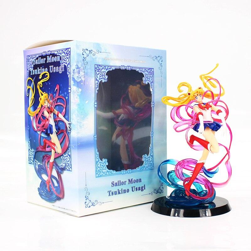 20cm Anime Sailor Moon Tsukino Usagi Figure Petit Chara Pretty Guardian Sailor Moon PVC Action Figure Collectible Model Toy free shipping 8 pretty guardian sailor moon anime uranus tenoh haruka