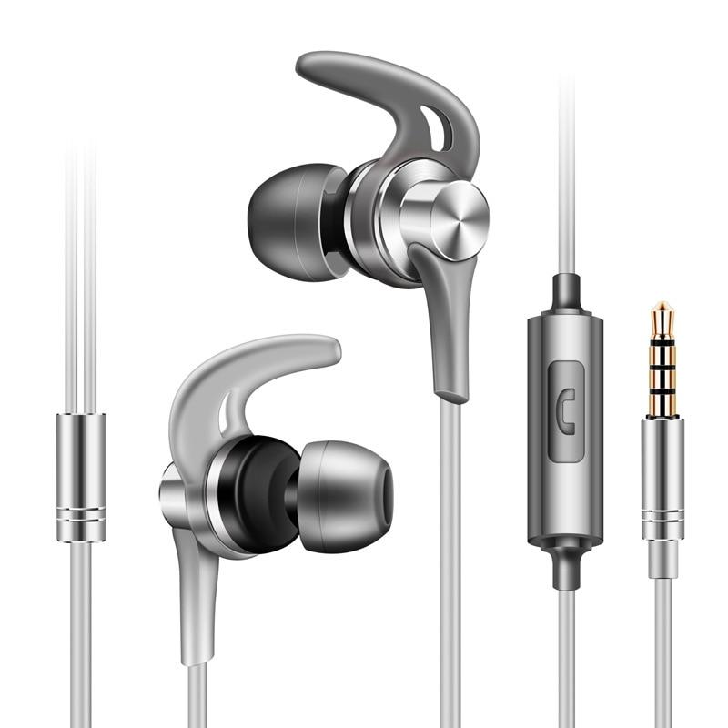 New J02 Shark Fins Metal Earphones 3.5mm In-ear Earphones Stereo Earphones Headsets Super Stereo Earbuds for Mobile Phone