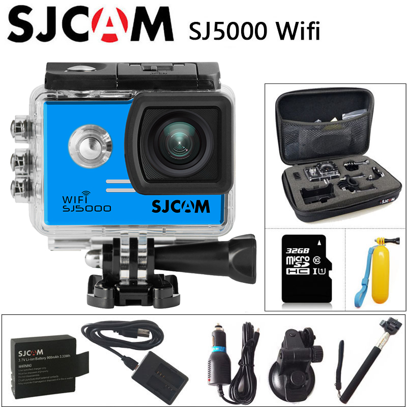 цена на SJCAM SJ5000 WiFi Sports Action Camera 1080P Full HD 30m Waterproof Original SJ 5000 Sport Cam 2 inch Screen mini Camcorder DV
