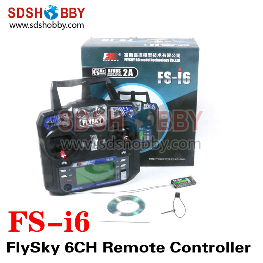 FlySky FS-i6 2.4G 6CH Transmitter Remote Controller Radio System Including iA6 Receiver for RC Quadcopter flysky 2 4g 6ch channel fs t6 transmitter receiver radio system remote controller mode1 2 lcd w rx rc helicopter multirotor