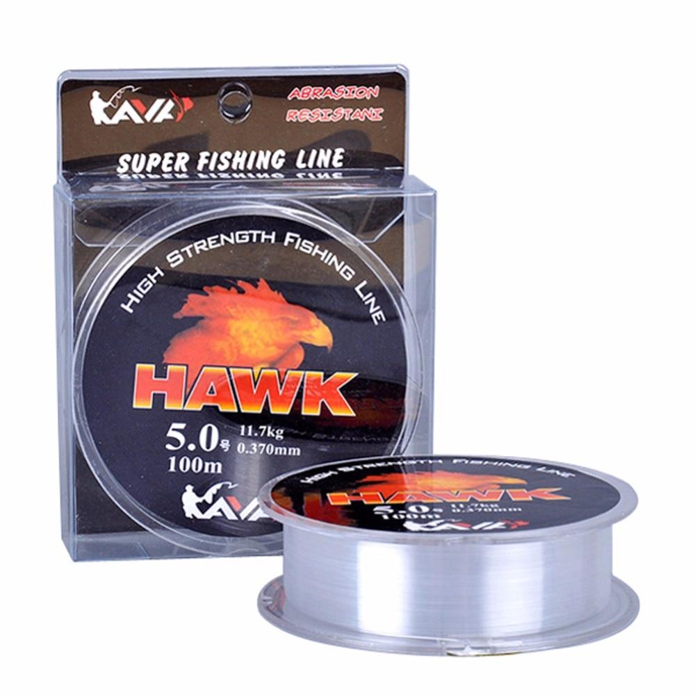 Sea Fishing Lin Wear Resisting Lure Nylon Fishing Line Wine Red Transparent For Sea Fishing Lure Fishing