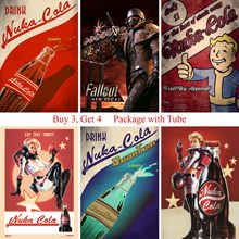 Fallout 4 Game Posters High Quality Wall Stickers White Coated Paper Prints Home Decoration Home Art Brand(China)
