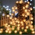 Fada 10 m 80 LED luminaria Decoração Guirlanda bola de Algodão Corda das luzes de Natal Festa de Casamento Do Feriado de ano Novo de iluminação Da Lâmpada