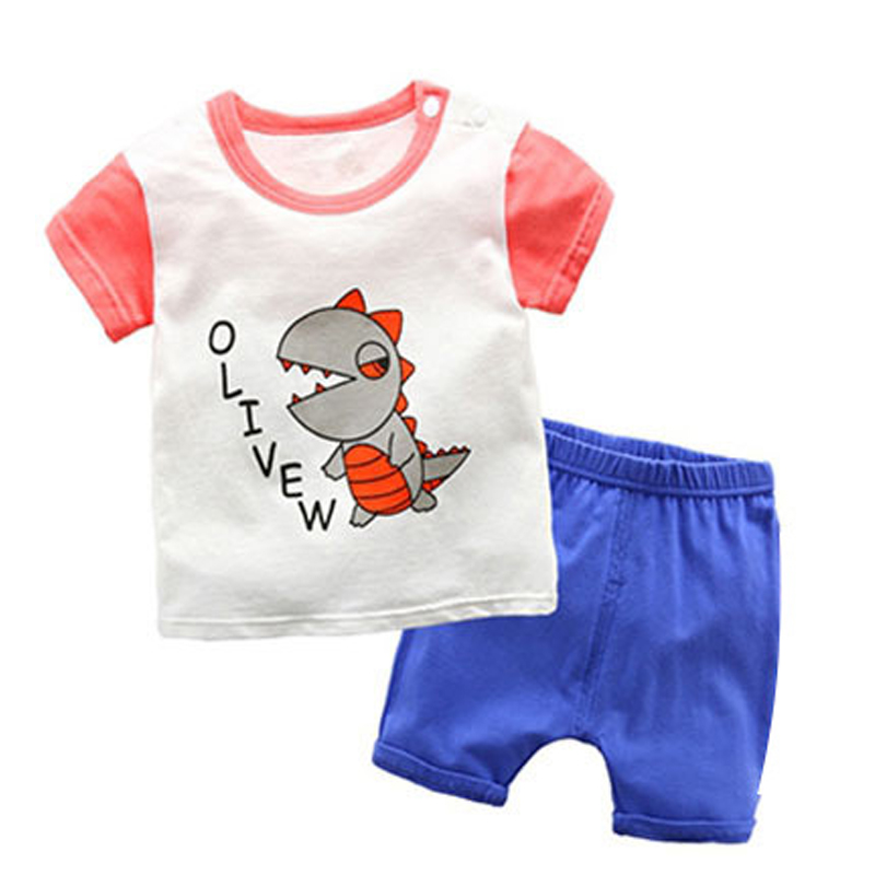 Toddler boy summer clothes Cartoon Top Shorts kids clothes Tracksuit girls clothing set Sport Suit Set 1 2 3 4 5 6 Years in Clothing Sets from Mother Kids