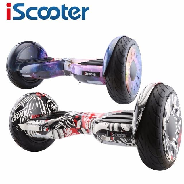 Iscooter hoverboard 10 дюймов/6.5 Дюймов Электрический самокат Smart Balance scooter электрический плата giroskuter gyroscooter UL2272 пульт
