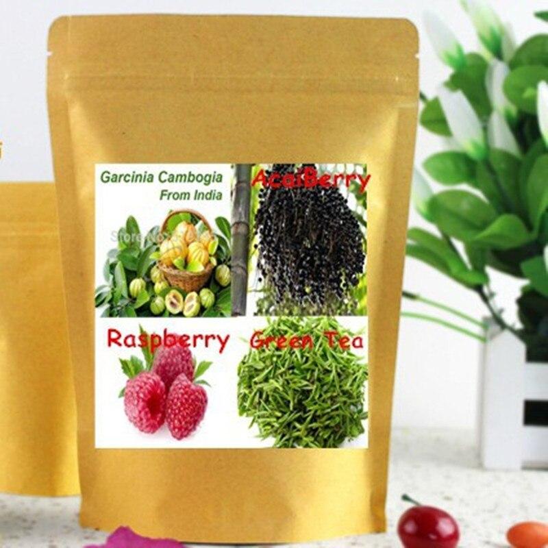 ФОТО Top4 Raspberry Ketone, Garcinia Cambogia, Green Coffee Bean&Tea & Acai Berry Complex Weight loss Capsule 450mg x 300pcs