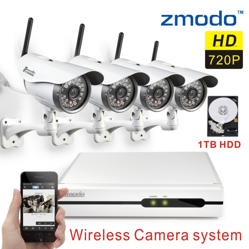 Zmodo Wireless Security IP Camera System 4CH 720p Network