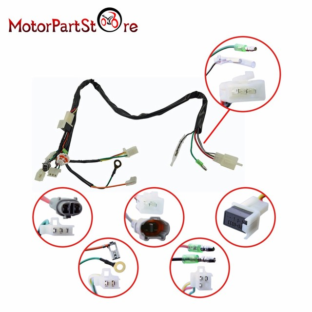 electrical main wiring harness wire loom plus connectors for yamaha rh aliexpress com 50's wiring harness ttr 50 wiring harness
