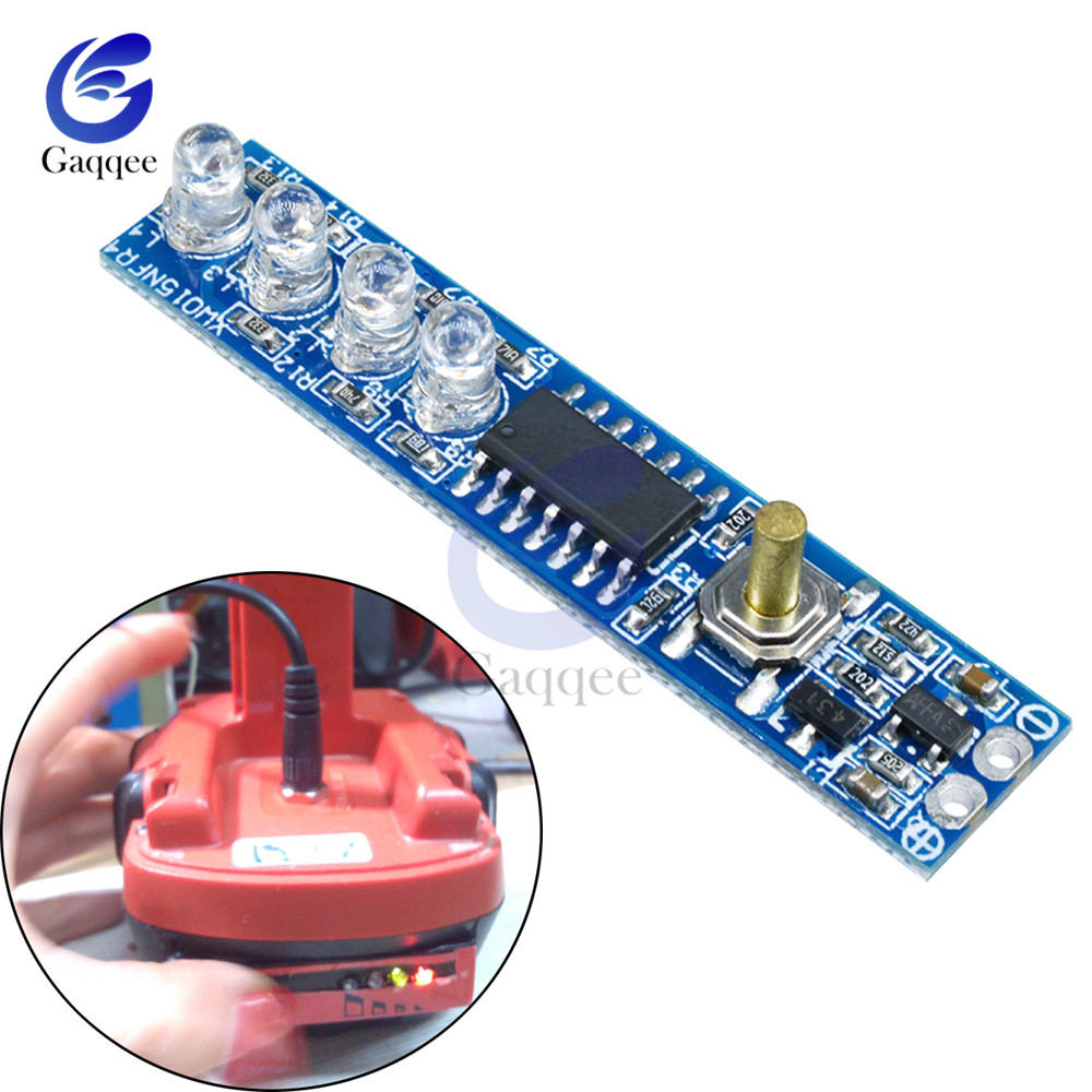 <font><b>3S</b></font> Lithium <font><b>Battery</b></font> Capacity <font><b>Indicator</b></font> Tester LED Display Board Power Level <font><b>Indicator</b></font> For 3pcs 18650 Lithium Li-ion lipo <font><b>Battery</b></font> image