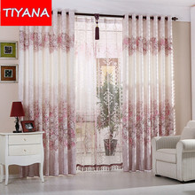 Fashion Floral Window Curtains For Living Room Jacquard Blinds Curtains Drapes And Tulle Curtain For Bedroom Custom Made AG172&3