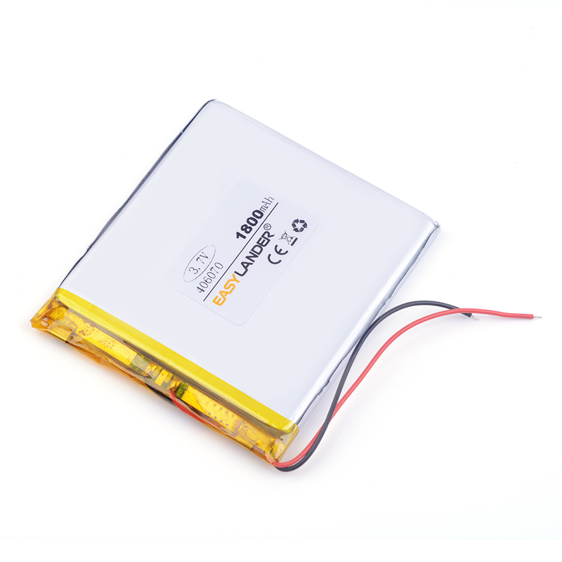 lithium ion rechargeable batteries <font><b>406070</b></font> 1800MAH GPS for Mp5 Tablet battery E-book tablet pc power bank image