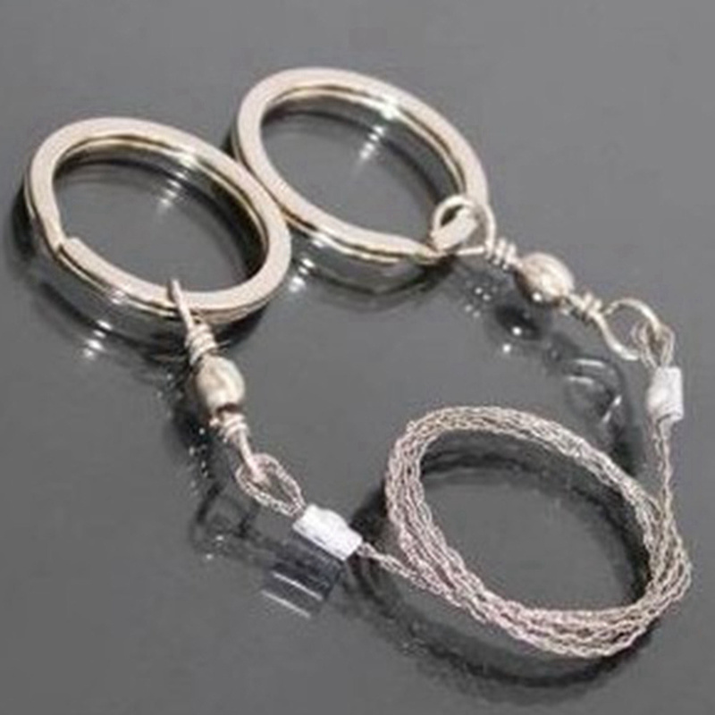 Portable Stainless Steel Wire Saw Outdoor Survival Self Defense Camping Hiking Hunting Chainsaws Hand Saw Fret Saw Tools