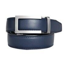 Mens High Quality Genuine Leather Belt-Ratchet Holeless Automatic Buckle Men