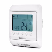 Floureon 16A Weekly Programmable Floor Heating LCD Display Thermostat Room Temperature Controller Thermoregulator White/Blue(China)