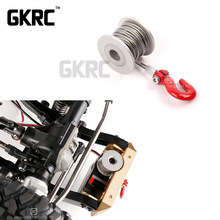 RC 25 T Servo Drum Winch Hook Trailer Hitch untuk 1/10 RC Crawler Mobil Axial Scx10 90046 D90 Traxxas Trx4 ford MST Cfx Jimny Vs4 T4(China)