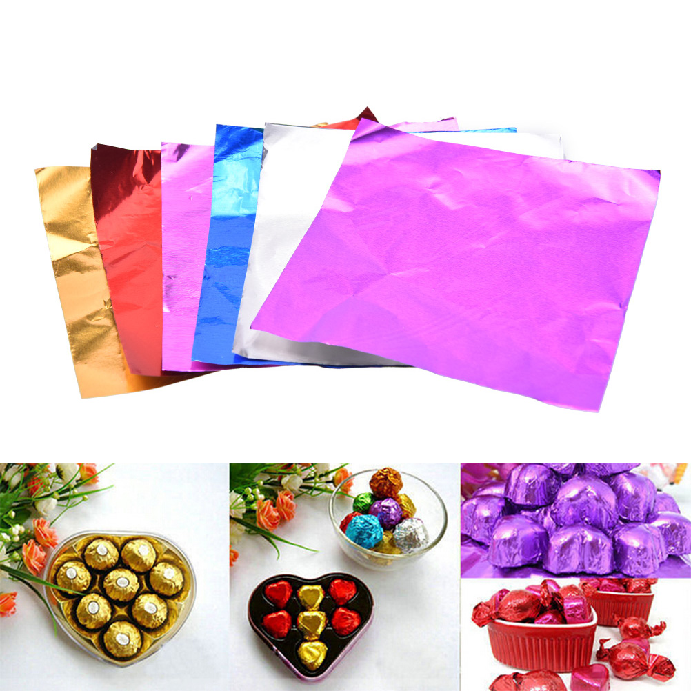 100pcs Personalized Candy Package Foil Paper Chocolate Lolly ...