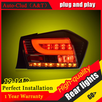 Car Styling for Honda city Taillights 2009-2014 for city  LED Tail Lamp Rear Lamp DRL+Brake+Park+Signal led lights