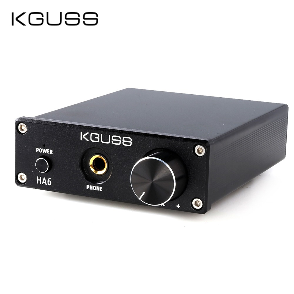 KGUSS HA6 TPA3116D2 NE5532 MINI HIFI High Power Audio Amplifier with Headphone Output AMP 50W 2