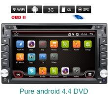 2 double din Android 4.4 Car DVD Player GPS Navi For Toyota Kia Tiida Qashqai Sunny X-Trail Paladin Frontier Patrol Versa Livina