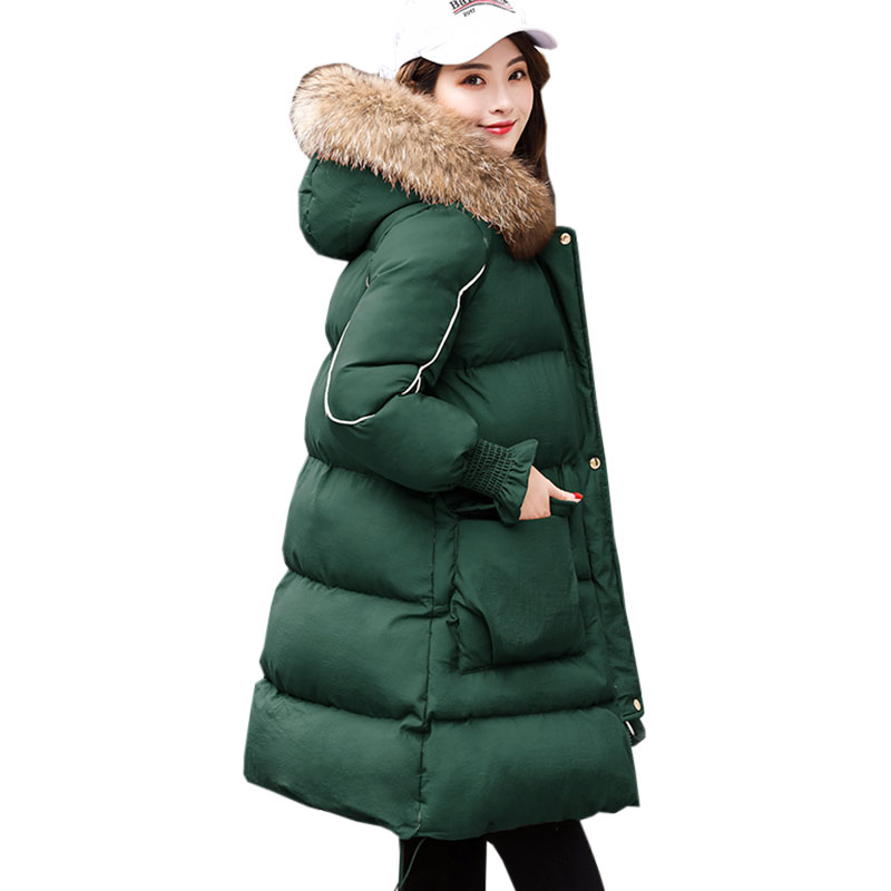 Winter Loose Women Large size Coat 2017 Ukraine New Down cotton Outerwear Long Warm Thicke Jacket Female Skirt hem Parkas X275 abner 2017 new winter loose long coat fashion women down cotton female warm parkas overcoat good quality free shipping