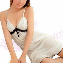 Women Lingerie Underwear White Babydoll Sleepwear Lace Night font b Dress b font Nightgowns Sexy Ladies