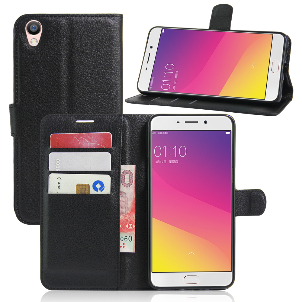 best sneakers 23b5c aec44 Luxury Flip PU Leather Wallet Case Cover For OPPO R7 R9 R9S R11 R15 F1 F1S  F3 Plus F7 A35 A37 A57 A59 A77 Phone Back Cover