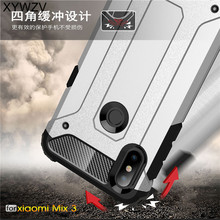 For Xiaomi Mi Mix 3 Case Shockproof Armor Rubber Hard Phone Back Cover Shell Fundas