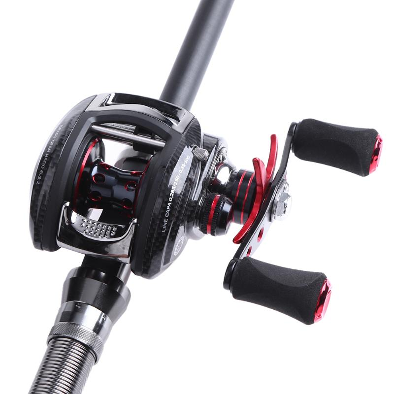 12+1 BB 6:3:1 Metal Water Drop Wheel Ceramic Left / Right Hand Baitcasting Reel Smooth Fishing Reel Casting Reels Fishing Part