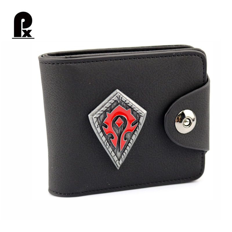 World of Warcraft Wallet Anime Walle genuine leather Wallet Men Wallets Luxury Russia Money Clip Men's Leather Wallet Male Purse hot 2017 world of warcraft wallets cartoon anime purse gift for young students pu leather dollar bags casual short wallet