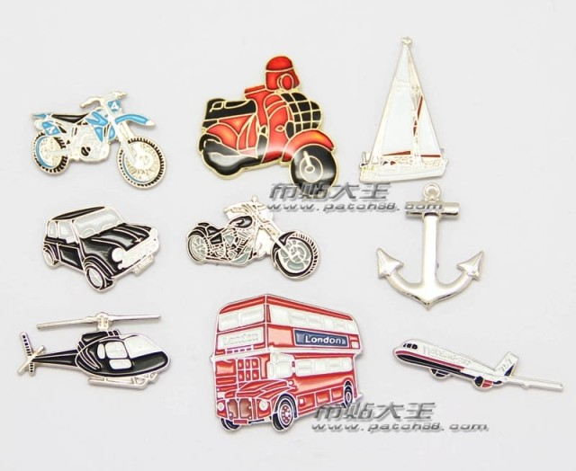Cartoon Lapel Pins metal Badge Vintage Classics Fashion Retro bus motorcycle anchor sailing boat image
