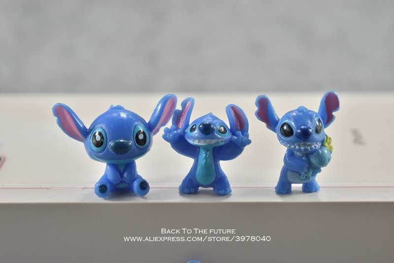 Disney Lilo & Stitch 3 cm 12 pçs/set Postura Anime Coleção Decoração Estatueta modelo Toy Action Figure para presente das crianças