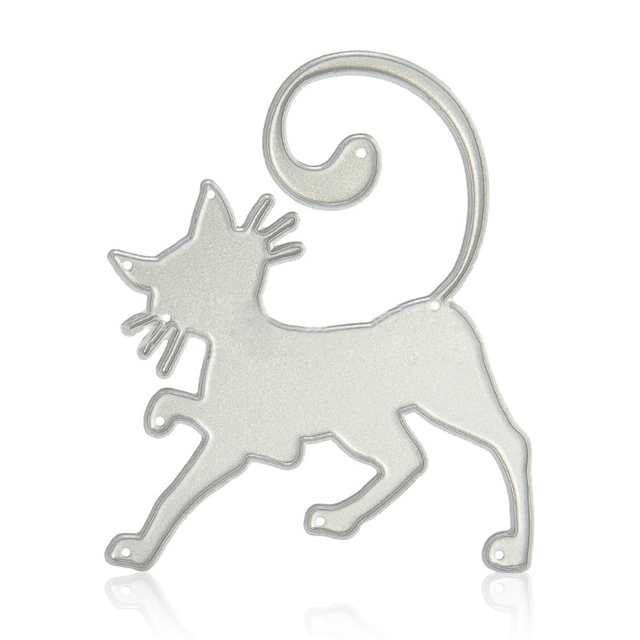 Carbon Steel Metal Elephant Cat Cake Stencils Cutting S Diy Card Making Tool Silver Template