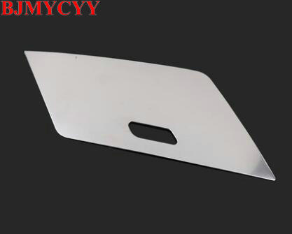 BJMYCYY 1PCS Auto instrument desk central store content box panel ABS decorative strips For Volkswagen Tiguan 2017 Tiguan L