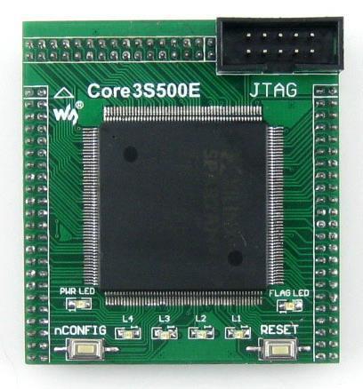 Free Shipping! 1pc XILINX FPGA development board core board XC3S500E Spartan-3E