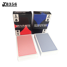 K8356 10 Sets/Lot Baccarat Texas Hold'em Plastic Playing Cards Waterproof Frosting Poker Card Board Bridge Game 2.28*3.46 inch