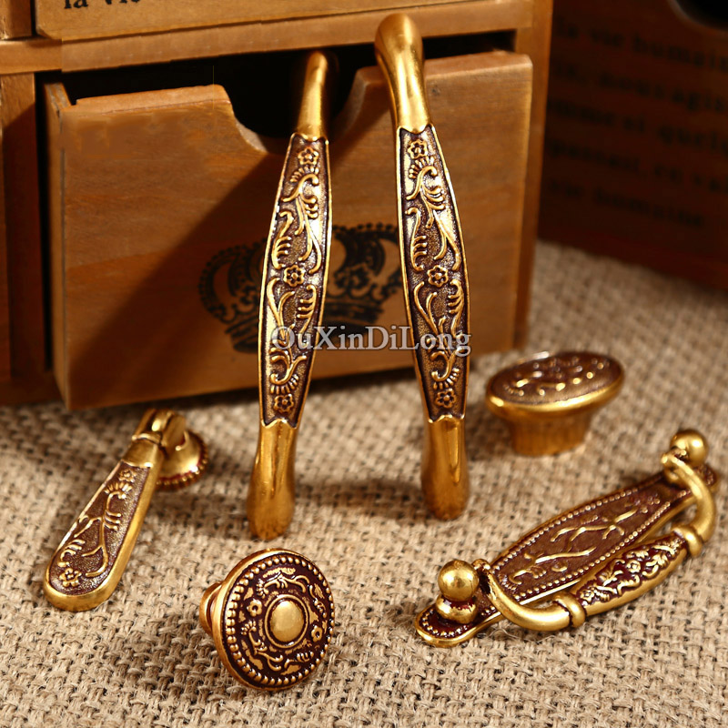 Hotsale 10PCS Furniture Handles European American Antique Drawer Wardrobe Cupboard Kitchen Cabinet Door Pulls Handles and Knobs designed 10pcs european american retro kitchen furniture handles antique cupboard drawer wardrobe cabinet pulls handles